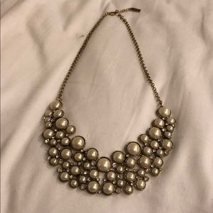 Sugarfix Pearl and Crystal Bib Necklace